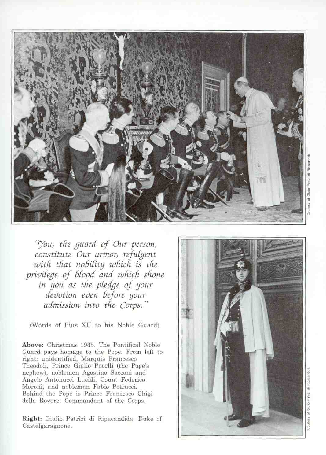 1. POPE PIUS XII AND HIS NOBLE GUARDS
